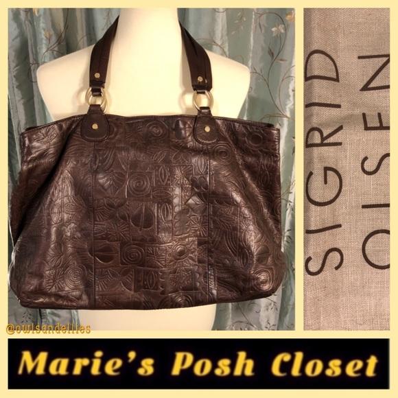 Sigrid Olsen Bags   Embossed Leather Handbag With Dust Bag   Poshmark 855dde55af